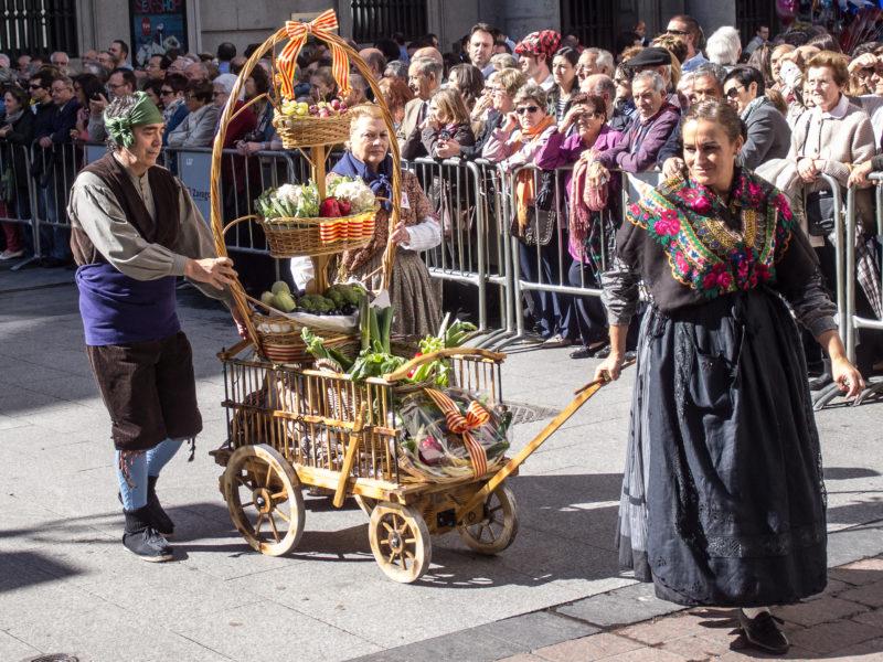 Fiestas del Pilar 2019 en Zaragoza- Ofrenda de frutos