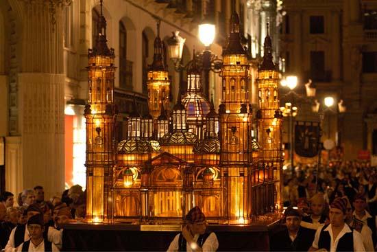 Fiestas del Pilar 2019 en Zaragoza -Rosario de Cristal